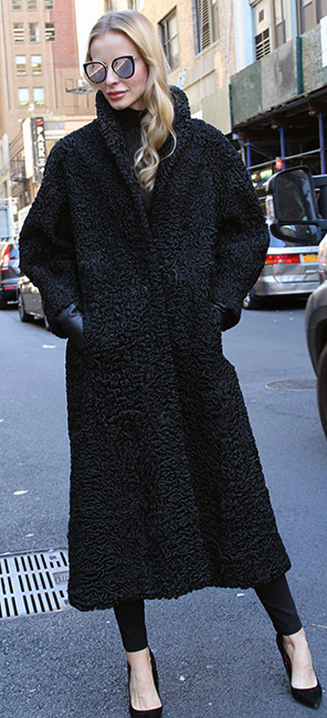 Black Persian Fur Coat