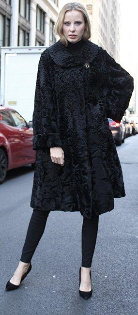 Black Persian Fur Stroller