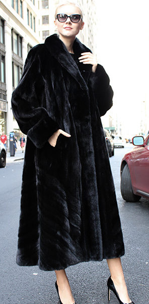Black Glama Mink Fur Coat 2195MARC KAUFMAN FURS | MARC KAUFMAN FURS