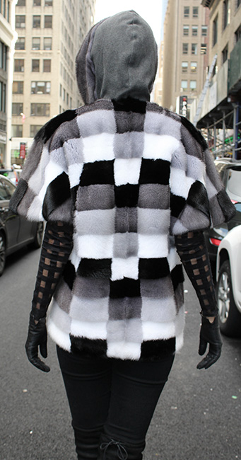 Mink Fur Checkered Vest