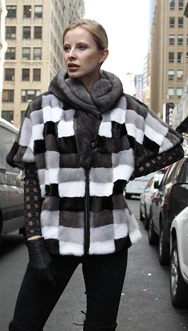 Mink Fur Checkered Vest