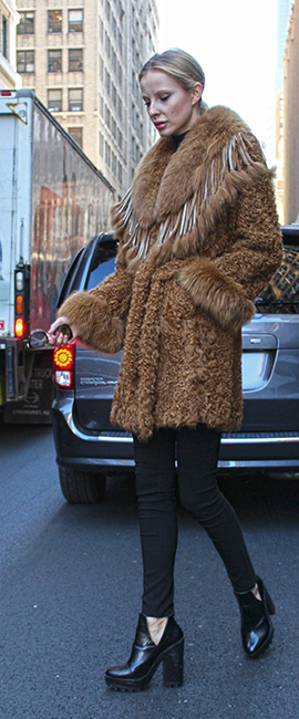 Whiskey Lamb Fox Fur Jacket