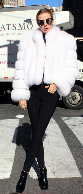 White Fox Fur Bolero Jacket
