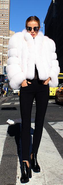 White Fox Fur Bolero Jacket