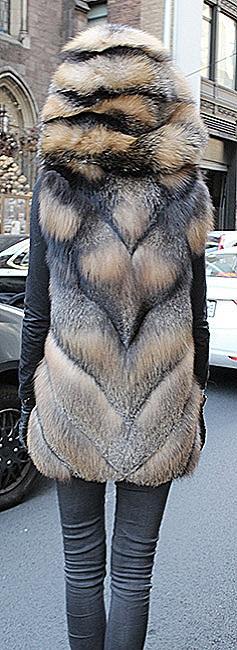woman knit fur coats