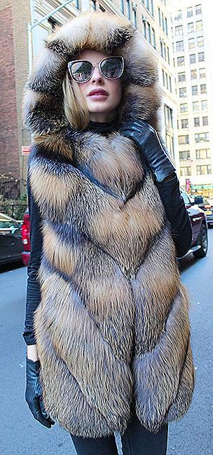 woman sable fur strollers