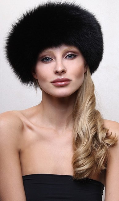 Black Fox Fur Headband