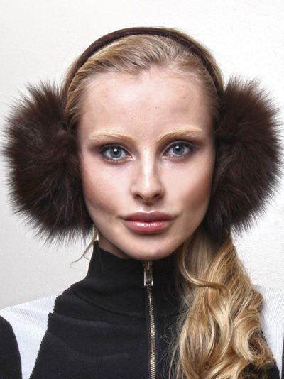 Brown Fox Fur Ear Muffs