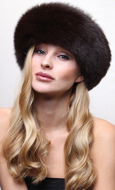 Brown Fox Fur Headband