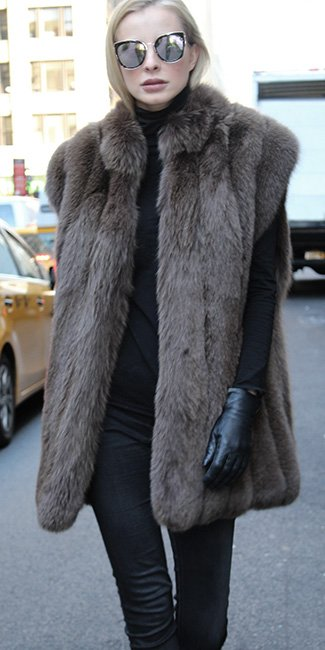 Brown Fox Fur Vest