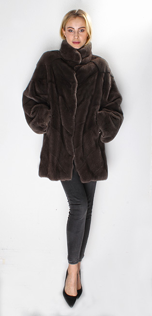 Brown Mink Fur Jacket