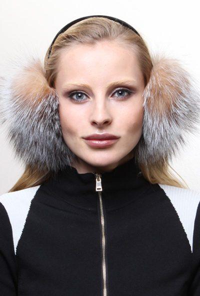 Crystal Fox Fur Ear Muffs