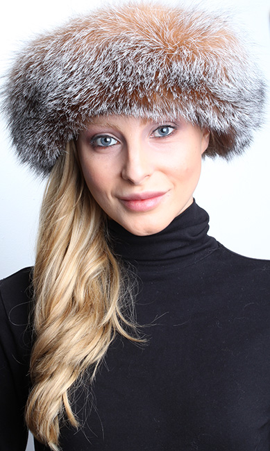 Crystal Fox Fur Hat