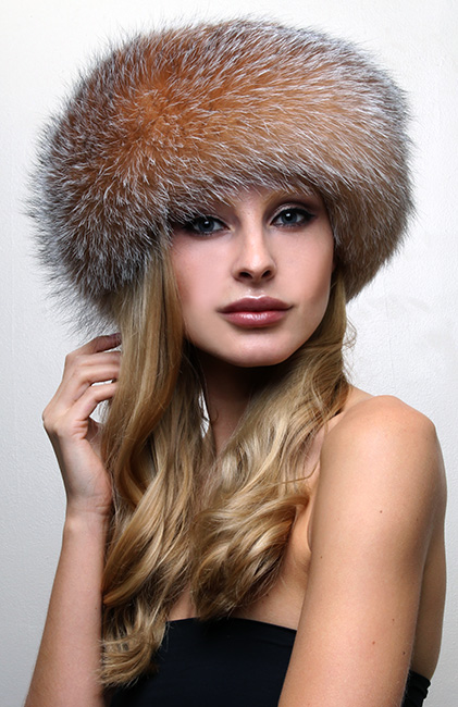 Crystal Fox Fur Headband