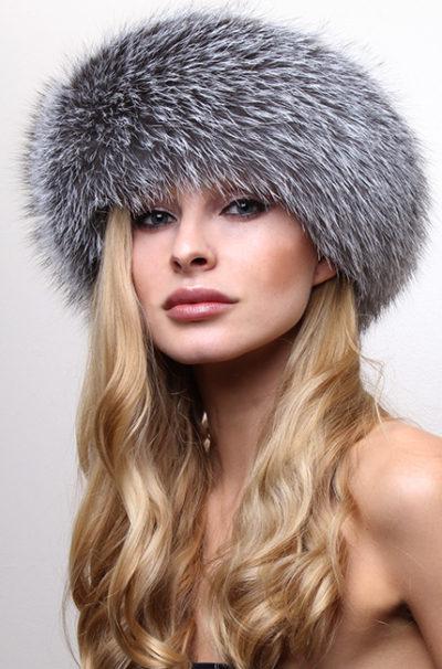 Silver FoxFur Headband
