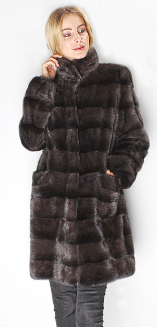 Two Toned Mink Fur Jacket