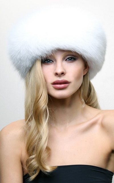 White Fox Fur Headband