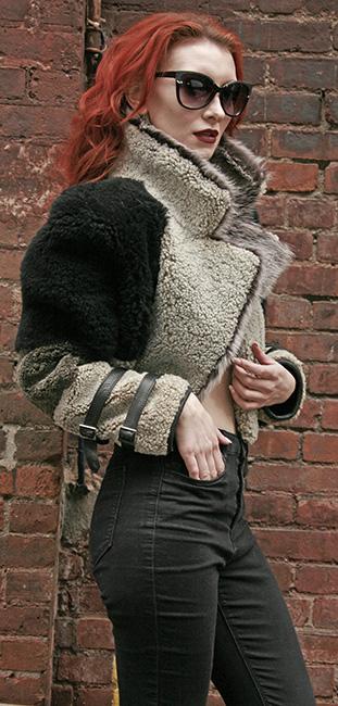 Three Toned Reversible Shearling Jacket