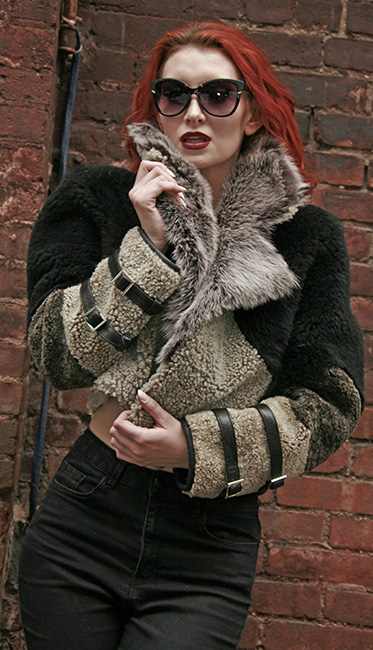 Three Toned Reversible Shearling Jacket