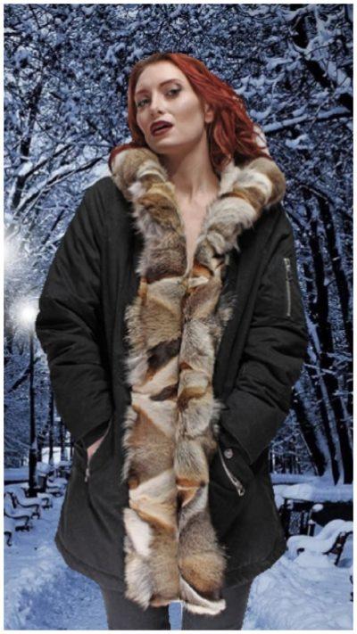 Three Toned Gray Fox Fur