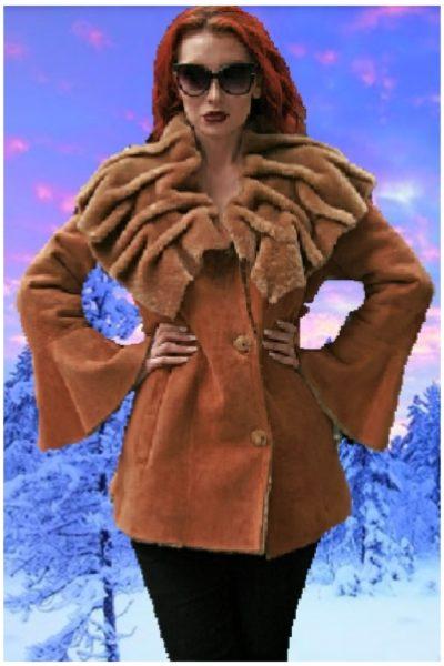 tan shearling jacket