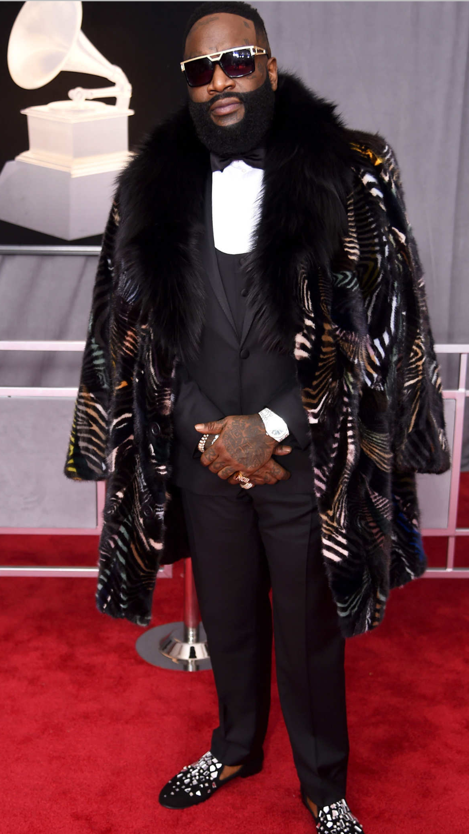 Rick Ross Mink Coat Grammy's 2018