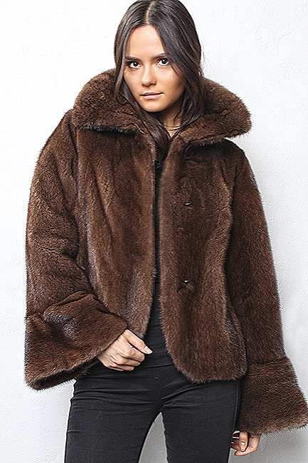 woman fox fur jackets