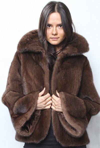 Mahogany Mink Fur Jacket