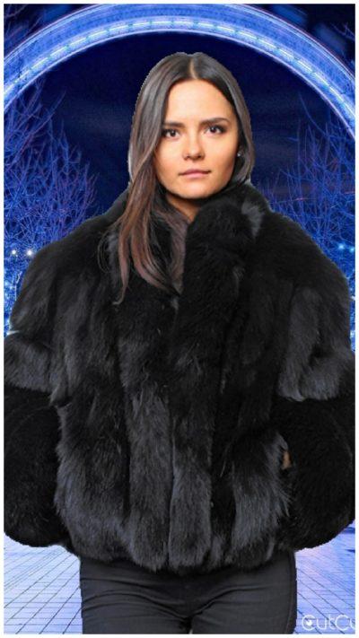 black fur jackets