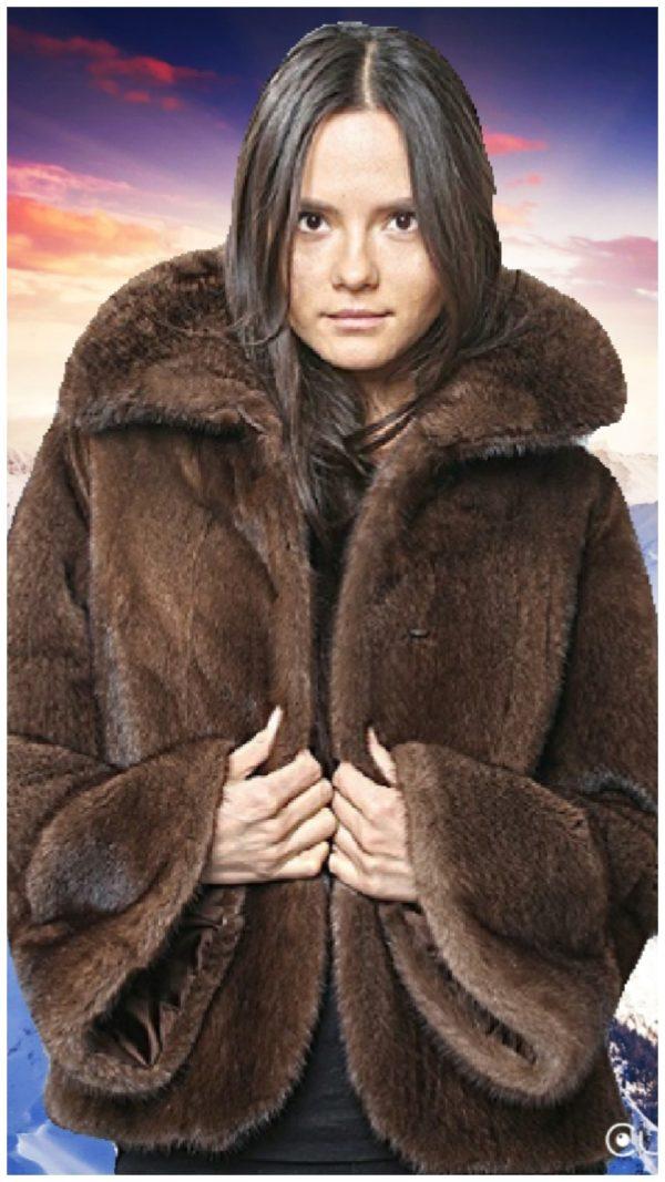 mahogany fur jackets