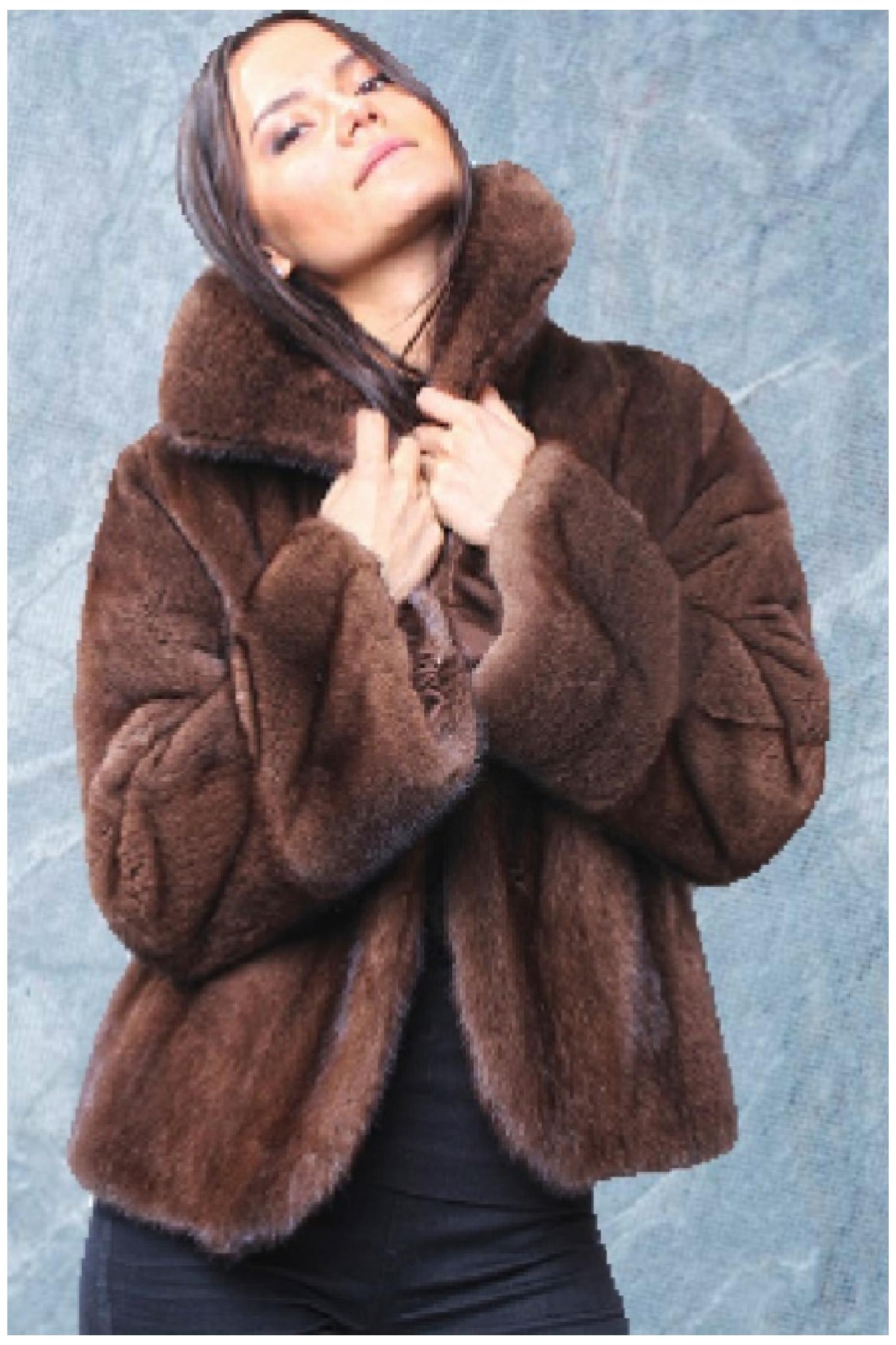 cff11522c Mahogany Mink Fur Jacket