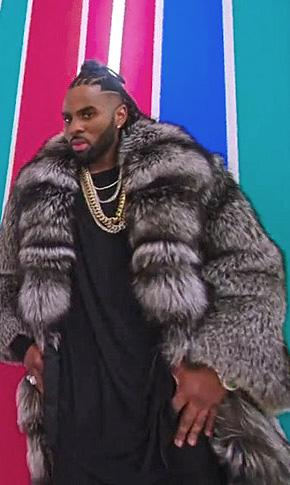 Jason Derulo Silver Fox Fur Coat Marc Kaufman Furs