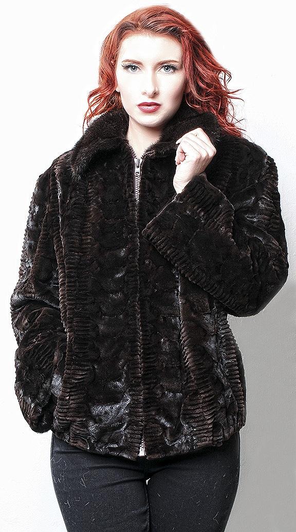 sheared mink fur coats