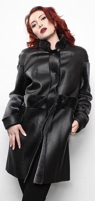 Black Shearling Coat