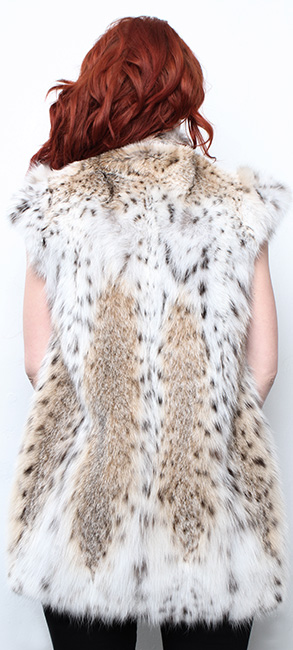 Cat Lynx Fur Vest