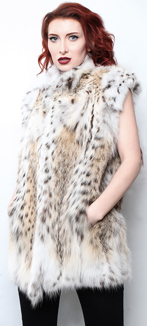 Ski Aspen Lynx Fur Vest