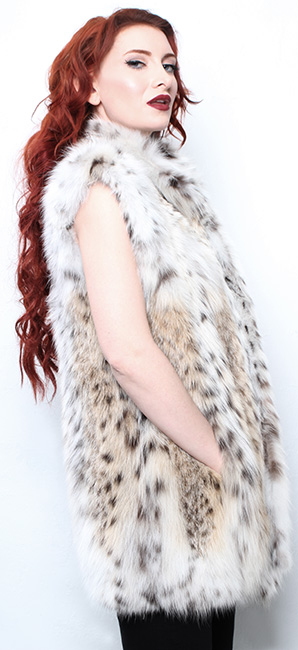 Sporty Lynx Fur Vest