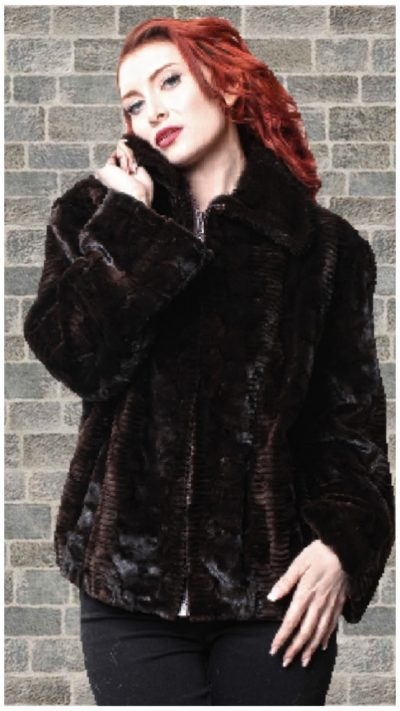 sheared mink fur coat