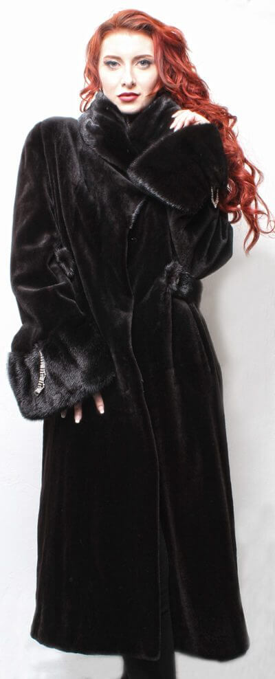 Ranch Sheared Mink Fur Coat