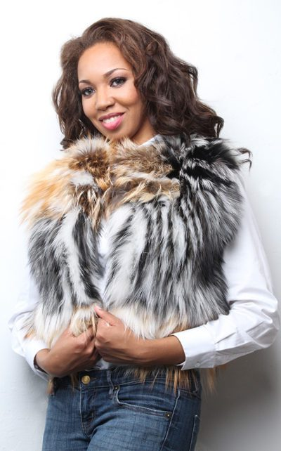 Two Toned Fox Fur Vest