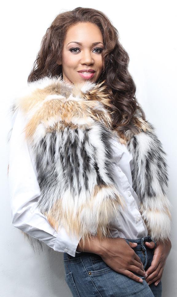 Two Toned Fox Fur Vest