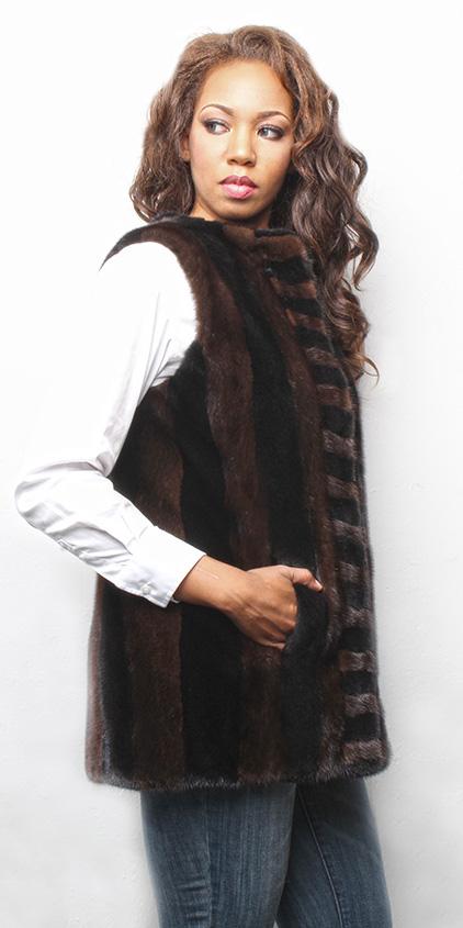 Mahogany and Ranch Mink Fur Vest