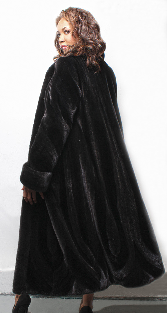 Full Length Ranch Hair Up Hair Down Mink Fur Coat
