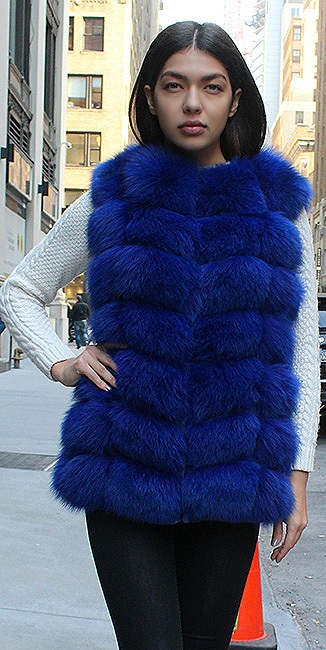 fox fur vest woman