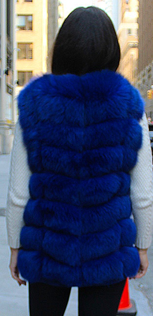 fox hooded fur coat