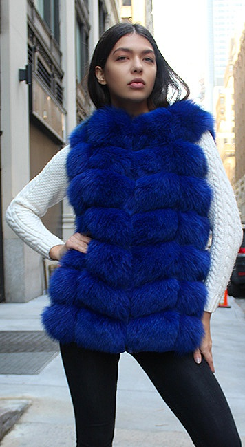 fox fur coat woman