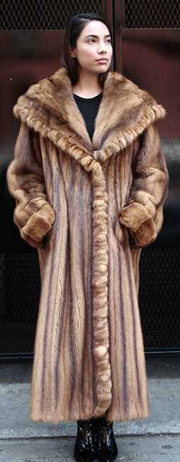 WHISKEY MINK COAT