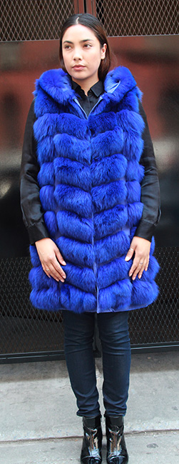 ROYAL BLUE FOX VEST