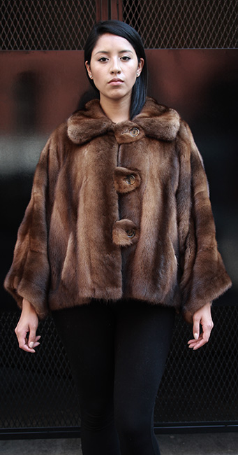 WHISKEY MINK JACKET