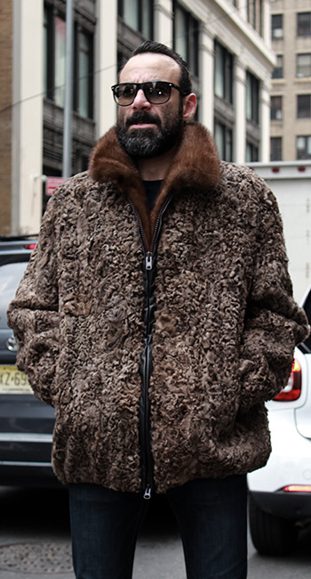 MENS BROWN PERSIAN JACKET